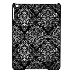 Damask1 Black Marble & Gray Metal 2 Ipad Air Hardshell Cases