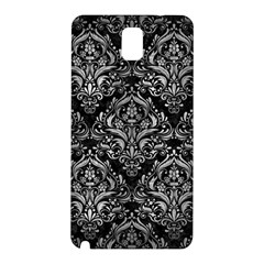 Damask1 Black Marble & Gray Metal 2 Samsung Galaxy Note 3 N9005 Hardshell Back Case