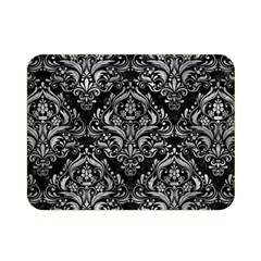 Damask1 Black Marble & Gray Metal 2 Double Sided Flano Blanket (mini)