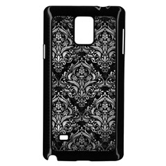 Damask1 Black Marble & Gray Metal 2 Samsung Galaxy Note 4 Case (black)