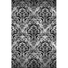Damask1 Black Marble & Gray Metal 2 (r) 5 5  X 8 5  Notebooks