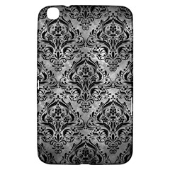 Damask1 Black Marble & Gray Metal 2 (r) Samsung Galaxy Tab 3 (8 ) T3100 Hardshell Case