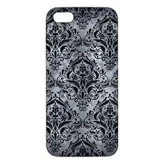 Damask1 Black Marble & Gray Metal 2 (r) Iphone 5s/ Se Premium Hardshell Case