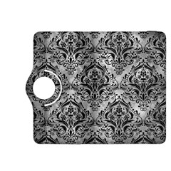 Damask1 Black Marble & Gray Metal 2 (r) Kindle Fire Hdx 8 9  Flip 360 Case