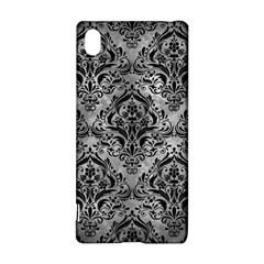 Damask1 Black Marble & Gray Metal 2 (r) Sony Xperia Z3+