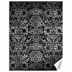 Damask2 Black Marble & Gray Metal 2 Canvas 18  X 24
