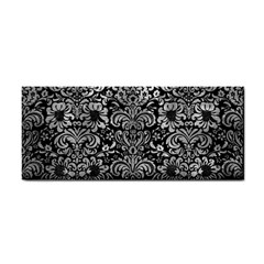 Damask2 Black Marble & Gray Metal 2 Cosmetic Storage Cases