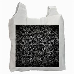 Damask2 Black Marble & Gray Metal 2 Recycle Bag (one Side)