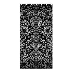 Damask2 Black Marble & Gray Metal 2 Shower Curtain 36  X 72  (stall)