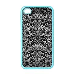 Damask2 Black Marble & Gray Metal 2 Apple Iphone 4 Case (color)