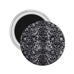 Damask2 Black Marble & Gray Metal 2 (r) 2 25  Magnets