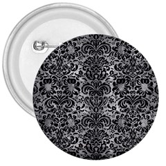 Damask2 Black Marble & Gray Metal 2 (r) 3  Buttons