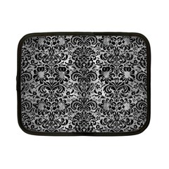 Damask2 Black Marble & Gray Metal 2 (r) Netbook Case (small)