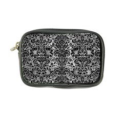 Damask2 Black Marble & Gray Metal 2 (r) Coin Purse