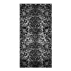 Damask2 Black Marble & Gray Metal 2 (r) Shower Curtain 36  X 72  (stall)