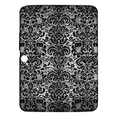 Damask2 Black Marble & Gray Metal 2 (r) Samsung Galaxy Tab 3 (10 1 ) P5200 Hardshell Case
