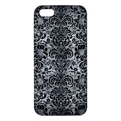 Damask2 Black Marble & Gray Metal 2 (r) Iphone 5s/ Se Premium Hardshell Case