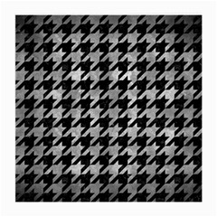 Houndstooth1 Black Marble & Gray Metal 2 Medium Glasses Cloth (2 Side)