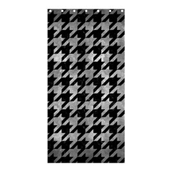 Houndstooth1 Black Marble & Gray Metal 2 Shower Curtain 36  X 72  (stall)