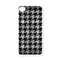 Houndstooth1 Black Marble & Gray Metal 2 Apple Iphone 4 Case (white)