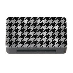 Houndstooth1 Black Marble & Gray Metal 2 Memory Card Reader With Cf