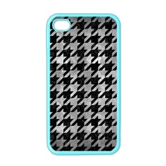 Houndstooth1 Black Marble & Gray Metal 2 Apple Iphone 4 Case (color)