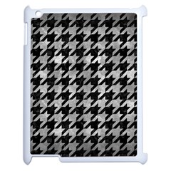 Houndstooth1 Black Marble & Gray Metal 2 Apple Ipad 2 Case (white)