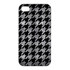 Houndstooth1 Black Marble & Gray Metal 2 Apple Iphone 4/4s Hardshell Case