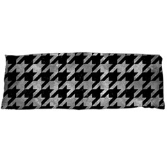 Houndstooth1 Black Marble & Gray Metal 2 Body Pillow Case Dakimakura (two Sides)