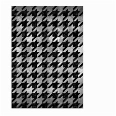 Houndstooth1 Black Marble & Gray Metal 2 Large Garden Flag (two Sides)