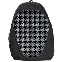 Houndstooth1 Black Marble & Gray Metal 2 Backpack Bag