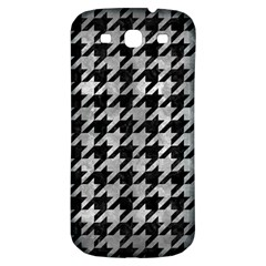 Houndstooth1 Black Marble & Gray Metal 2 Samsung Galaxy S3 S Iii Classic Hardshell Back Case