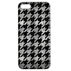 Houndstooth1 Black Marble & Gray Metal 2 Apple Iphone 5 Hardshell Case With Stand
