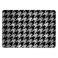 Houndstooth1 Black Marble & Gray Metal 2 Samsung Galaxy Tab 10 1  P7500 Flip Case