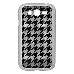 Houndstooth1 Black Marble & Gray Metal 2 Samsung Galaxy Grand Duos I9082 Case (white)