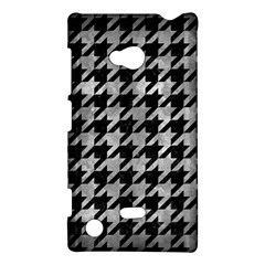 Houndstooth1 Black Marble & Gray Metal 2 Nokia Lumia 720