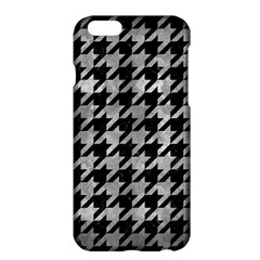Houndstooth1 Black Marble & Gray Metal 2 Apple Iphone 6 Plus/6s Plus Hardshell Case