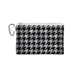 Houndstooth1 Black Marble & Gray Metal 2 Canvas Cosmetic Bag (s)