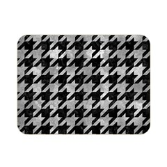 Houndstooth1 Black Marble & Gray Metal 2 Double Sided Flano Blanket (mini)