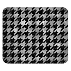 Houndstooth1 Black Marble & Gray Metal 2 Double Sided Flano Blanket (small)