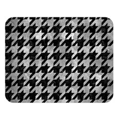 Houndstooth1 Black Marble & Gray Metal 2 Double Sided Flano Blanket (large)