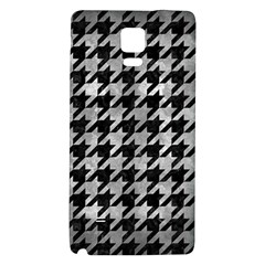 Houndstooth1 Black Marble & Gray Metal 2 Galaxy Note 4 Back Case