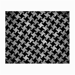 Houndstooth2 Black Marble & Gray Metal 2 Small Glasses Cloth (2 Side)