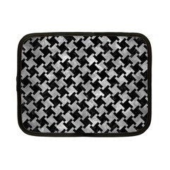 Houndstooth2 Black Marble & Gray Metal 2 Netbook Case (small)