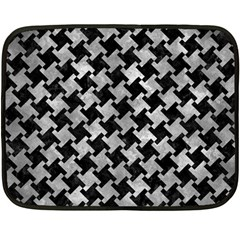 Houndstooth2 Black Marble & Gray Metal 2 Double Sided Fleece Blanket (mini)