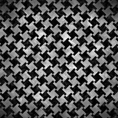 Houndstooth2 Black Marble & Gray Metal 2 Magic Photo Cubes