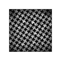 Houndstooth2 Black Marble & Gray Metal 2 Acrylic Tangram Puzzle (4  X 4 )
