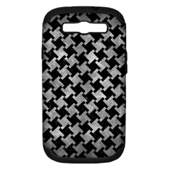 Houndstooth2 Black Marble & Gray Metal 2 Samsung Galaxy S Iii Hardshell Case (pc+silicone)