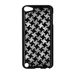 Houndstooth2 Black Marble & Gray Metal 2 Apple Ipod Touch 5 Case (black)