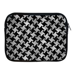 Houndstooth2 Black Marble & Gray Metal 2 Apple Ipad 2/3/4 Zipper Cases